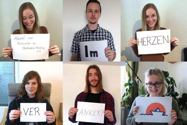 Studierende der Medieninformatik entwerfen Logo für den Alumni- und Förderverein der Hochschule Flensburg