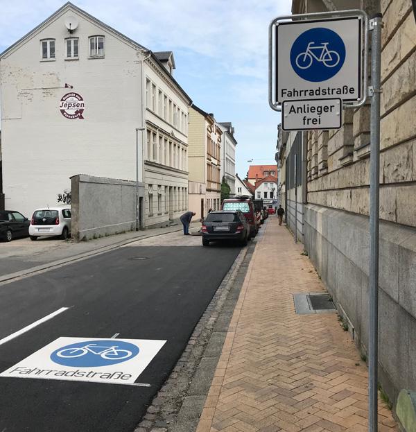 Flensburg: Richtig durch die Fahrradstraße – Regeln für die Nutzung