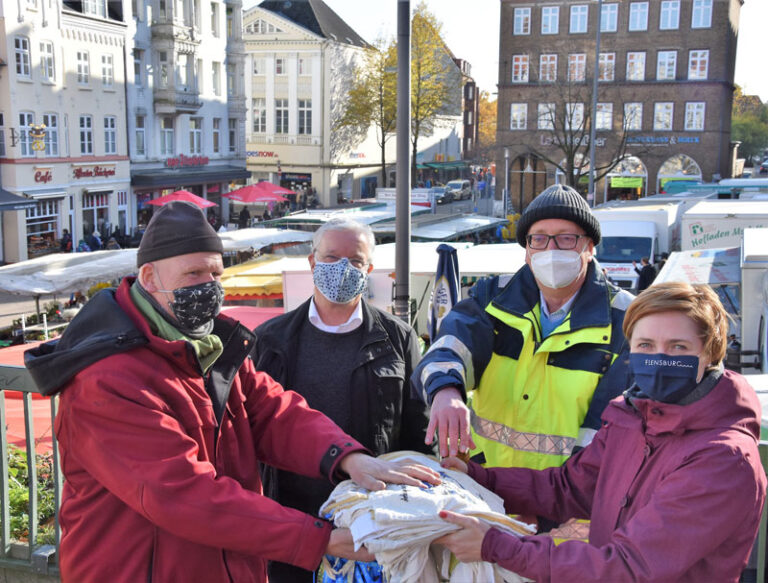 "Klimapakt Flensburg e.V.:  ""Flensburger Marktbetreiber setzen auf Stoffbeutel!"""